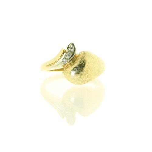 9ct Yellow Gold Unique Diamond Set Dress Ring