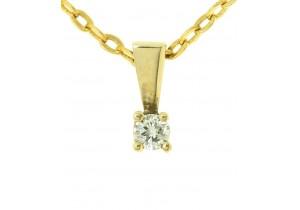 0.08ct Claw Set Diamond Pendant