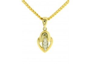 0.03ct Diamond Set Pendant
