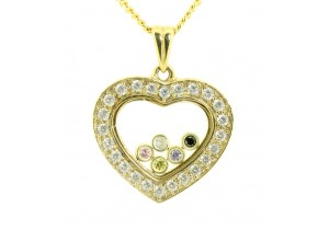 Heart Memory Locket with Floating Charms