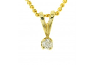 0.10ct Diamond Claw Set Pendant II