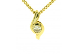 18ct Yellow Gold Diamond Pendant
