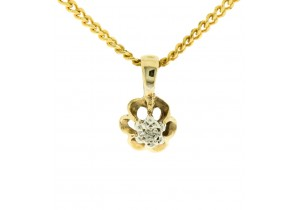 Diamond Set Flower Pendant