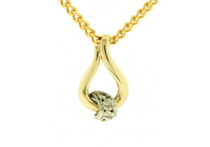 9ct Yellow Gold Diamond Set Pendant
