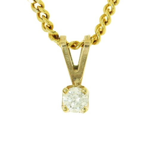 0.10ct Diamond Claw Set Pendant
