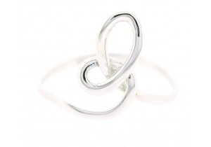 9ct White Gold Loop Ring