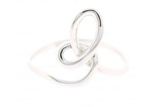 9ct White Gold Loop Ring