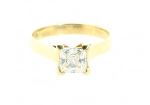 Princess Cut Cubic Zirconia Solitare Ring