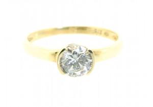 Split Bezel Cubic Zirconia Ring