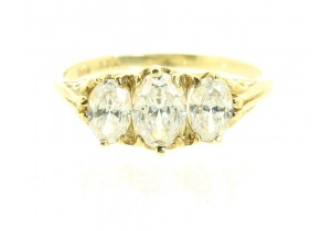 Antique Style Cubic Zirconia Ring