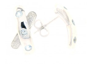 9ct White Gold and Blue Topaz Studs