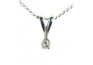 9ct White Gold 0.05ct Diamond Pendant