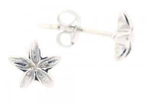 9ct White Gold Flower Studs IIII