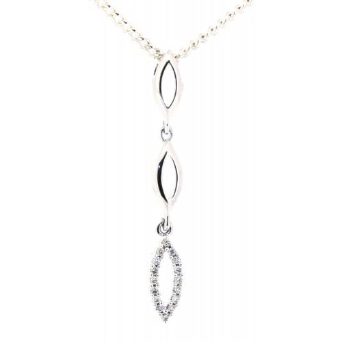 Diamond Set Drop Pendant