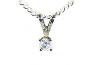 9ct White Gold 0.10ct Diamond Pendant
