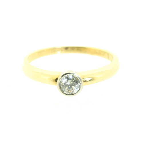 Cubic Zirconia Solitare Ring