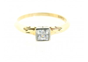 Princess Cut Cubic Zirconia Ring