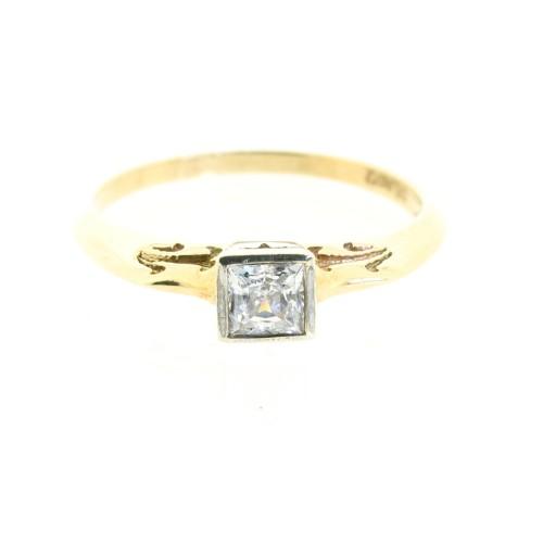 Princess Cut Cubic Zirconia Ring